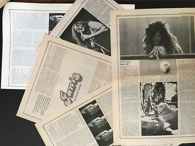 "Janis Joplin 1970-72 Original & Rare 11X17"" Clippings"