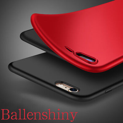For Apple iPhone X 7 8 Plus Slim Rubber Soft TPU Case Shockproof Silicone Cover