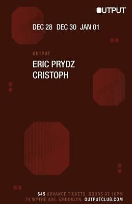 Eric Prydz Output NYC Saturday December 30th