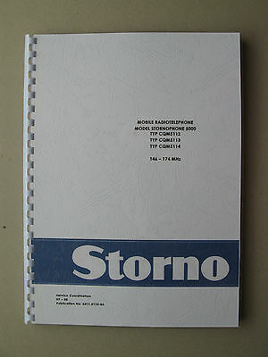 Stornophone 5000 CQM5110  Storno 2m VHF-Band Service Manual - TOP Zustand !