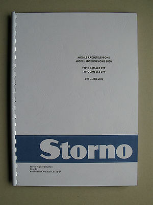 Stornophone 5000 - Storno CQM5660 S99  UHF-Band Service Manual - TOP Zustand !