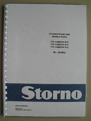 Stornophone 5000 - Storno CQM5330 S12 Service Manual 4m VHF-Band - TOP Zustand !