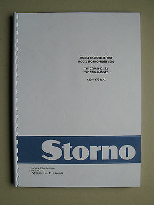 Stornophone 5000 - Storno CQM5660 S12 UHF-Band Service Manual - TOP Zustand !