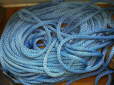 "50' of 5/8 "" Dyneema 12 Strand AmSteel-Blue Genuine Samson Rope"