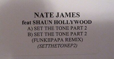 "NATE JAMES feat SHAUH HOLLYWOOD - SET THE TONE PART 2 - 12"" VINYL"