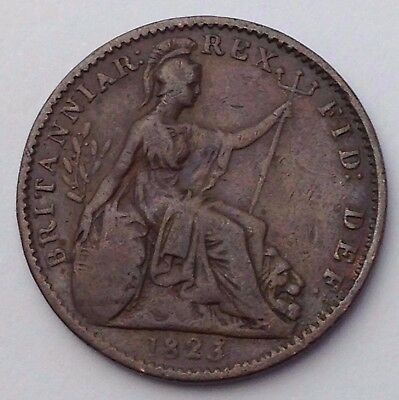 Dated : 1823 - One Farthing - Coin - King George IIII - Great Britain