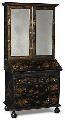 A William And Mary Black And Gold Lacquer Desk And Bookcase, Circa 1700 |
