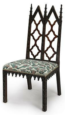 A George Iii Gothic Revival Mahogany Side Chair, Circa 1760 |