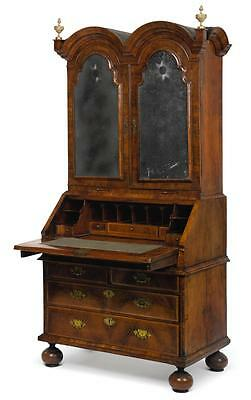 AQueen Anne Walnut Desk And Bookcase, Early 18Th Century |
