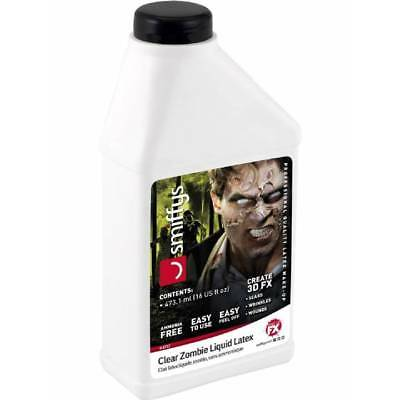 Smiffy's Large 16oz Zombie Skin Liquid Latex Low Ammonia Halloween FX