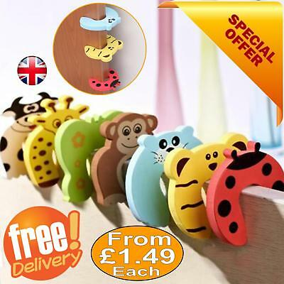 Kids Baby Safety Door Stop Jammer Child Safe Stopper Guard Protect Fingers UK