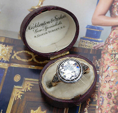 A very special antique Russian Art Nouveau diamond ring 3.65ct certified c1900