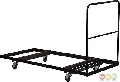 "Black Folding Table Dolly For 30""W X 72''d Rectangular Folding Tables"