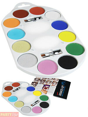 Smiffys Make Up Face Body Paint Pallet Fancy Dress Outfit Accessory Kids Party