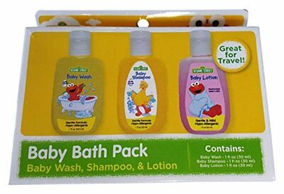 Sesame Street Baby Bath Pack Body Wash Lotion Shampoo 3 Pack