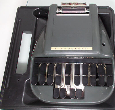 Vintage Stenograph Reporter Shorthand Machine Steno-letric Hard Case