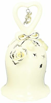 Appletree Design 25th Anniversary Ivory Rose Bell, 5-Inch Tall, Includes Clapper