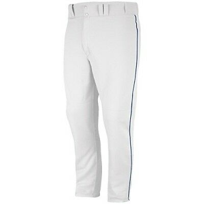 (Large (14-16), Grey) - Majestic Boy's Zipper Front Baseball Pant with Piping