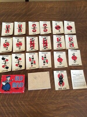 Vintage Card Game - Old Maid - Somerville Game S-251