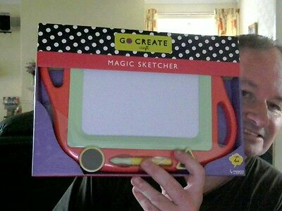 Go Create Magic Sketcher  Etch Sketch Variant Toy Perfect Xmas Gift Free Uk Post