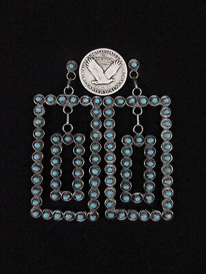 Zuni Earrings - Sterling Silver and Turquoise