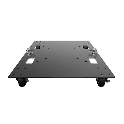 Global Truss Steel Base Plate with Casters Wheels 24 x 30 [Base Plate 24X30WC]