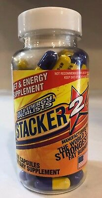 Stacker2 100ct Extreme Fat Burner New/Sealed Free Fast Shipping Stacker 2