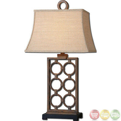 Dardenne Bronze Finish Hand Forged Metal Table Lamp 27453