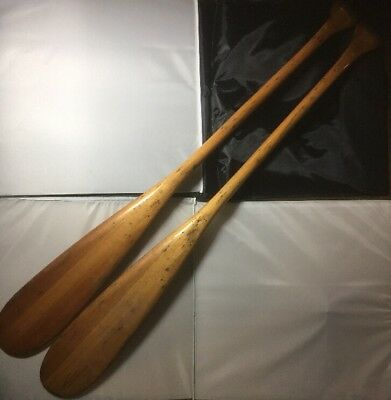OARS/paddles WOODEN VINTAGE ROWING DINGY Kayak RETRO