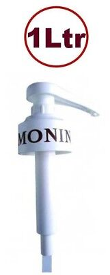 MONIN PUMP FOR 1 Litre 1ltr COFFEE SYRUP BOTTLES. PERFECT 10ml MEASURES