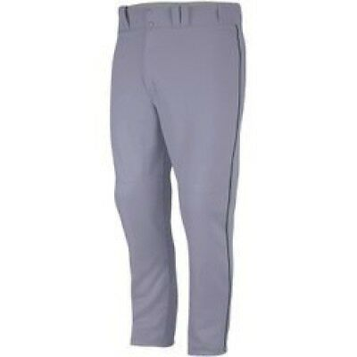 (X-Large, Gray/Forest) - Majestic Boy's Zipper Front Baseball Pant with Piping