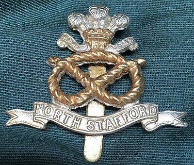 WWI Prince of Wales NORTH STAFFORD British hat cap badge glengarry STAFFORDSHIRE
