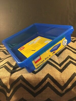 Lego Blue Storage Box Small  Lid and Tray -