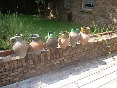 6 19Th Century Terra Cotta Turkish Olive Oil Jars / Priced Individually $65 Each