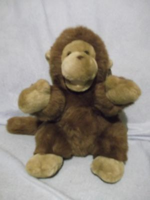 """11"""" Yes Club Brown Plush Monkey with tags - very clean - A & A Plush"""