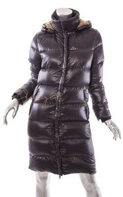 buy online 5dcd5 e8135 Duvetica Size 38 US 4 Gray Goose Down Quilted Puffer Coat Hooded