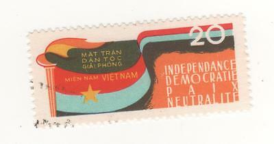 1963 VIETNAM N/F 20x. 3rd Anniv of National Liberation Front - French Insc. Used