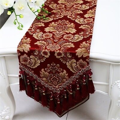 (33*300cm, Wine Red) - Shopping- Fashion Simple European American Table Runner