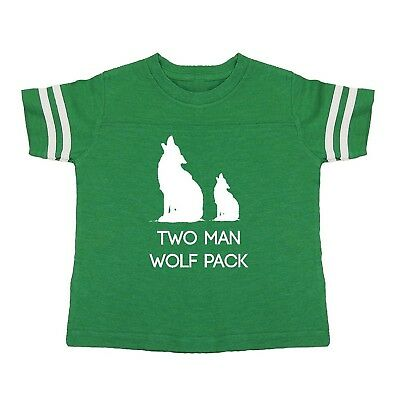 (Youth Small, Kelly) - We Match! Two Man Wolf Pack Toddler & Kids Football