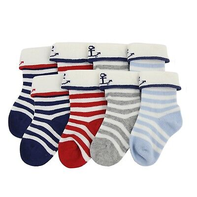 (8-pack/5.51-6.3in(14-16cm) Us Shoe Size:8-10/Navy Stripes) - YULI Newborn