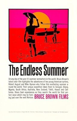 The Endless Summer POSTER 1966 Surf Waves Rare Large