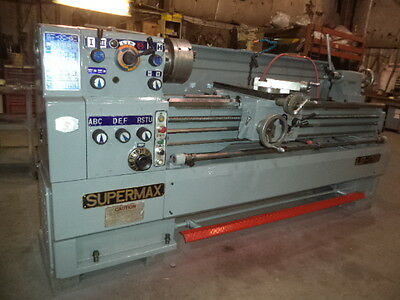 "SuperMax Model LG-1768, 17"" X 68"" Geared Head Engine Lathe, w/ Taper Attachment"