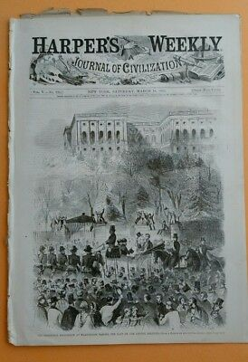 Harper's Weekly 3/16/1861  Lincoln's Inauguration  3 Winslow Homer  Famous Issue