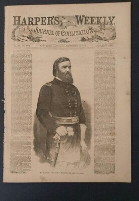 Harpers weekly 9/13/1862 the Iron Clads   Second Bull Run  General Pope