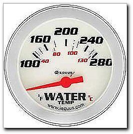 """Performance 2-5/8"""" White Face Electric Water Temperature Gauge (8462)"""