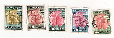 1957 South VIETNAM Inaugration of National Assembly x 5 to 5p. SG#S48-S52 USED
