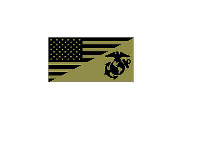 Usa Flag United States Marine Corps Usmc Tactical Vinyl Decal Sticker
