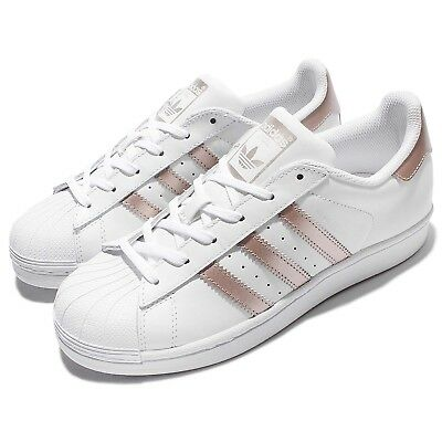 adidas Originals Superstar W White Rose Gold Women Classic Shoes Sneakers BA8169