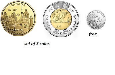 2017 CANADA 150th COINS SET LOONIE AND TOONIE