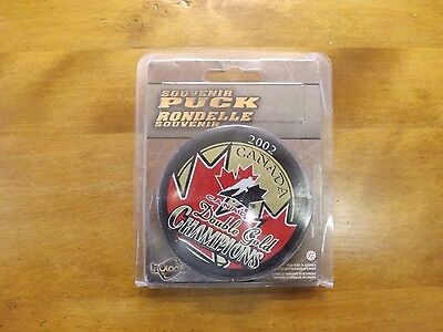 2002 Double Gold Canada Hockey Puck In Original Packaging - PRICE LOWERED!!!!